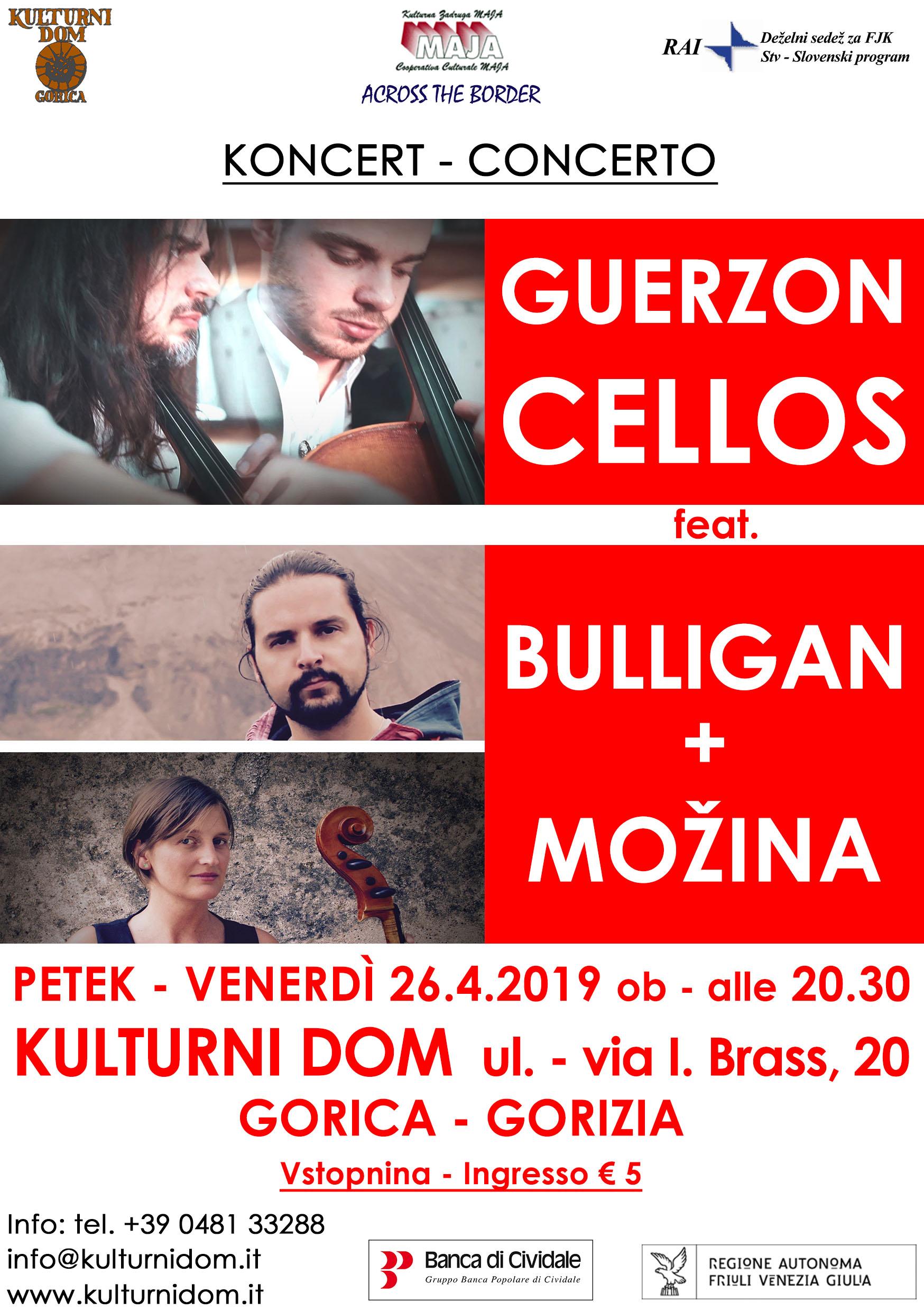 Guerzoncellos in concert