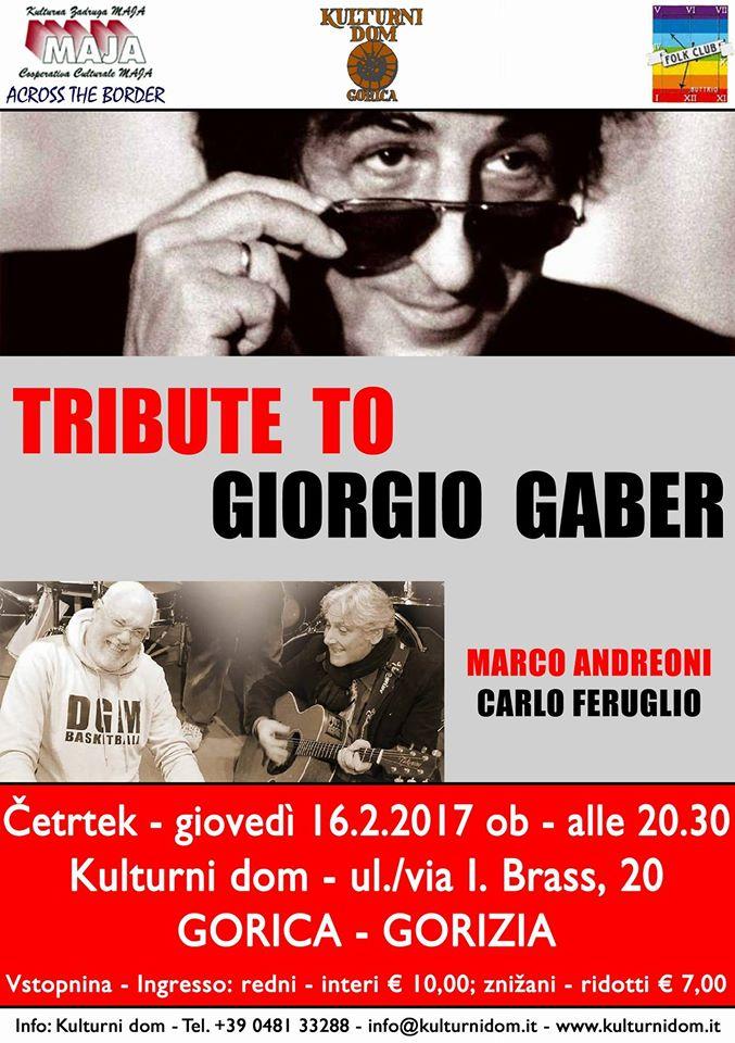 Tribute to Giorgio Gaber