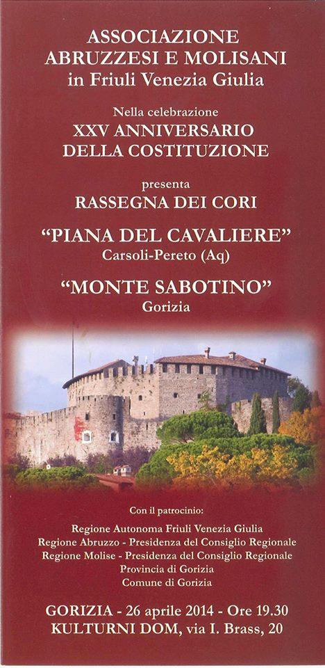 XXV Anniversario della costituzione dell'Associazione Abruzzesi e Molisani del FVG