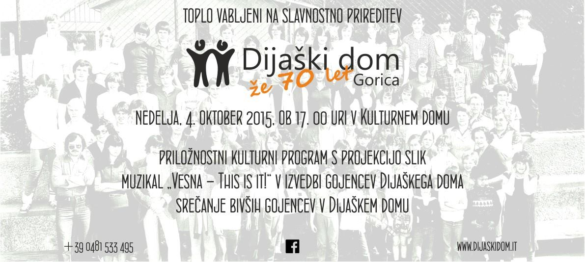 70esimo anniversario del Dijaški dom di Gorizia