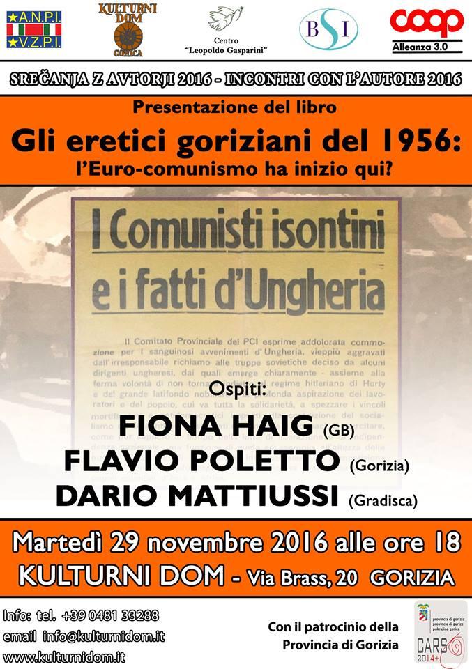 »GLI ERETICI GORIZIANI DEL 1956: L'EURO-COMUNISMO HA INIZIO QUI?« (Goriški krivoverci – Madžarska)