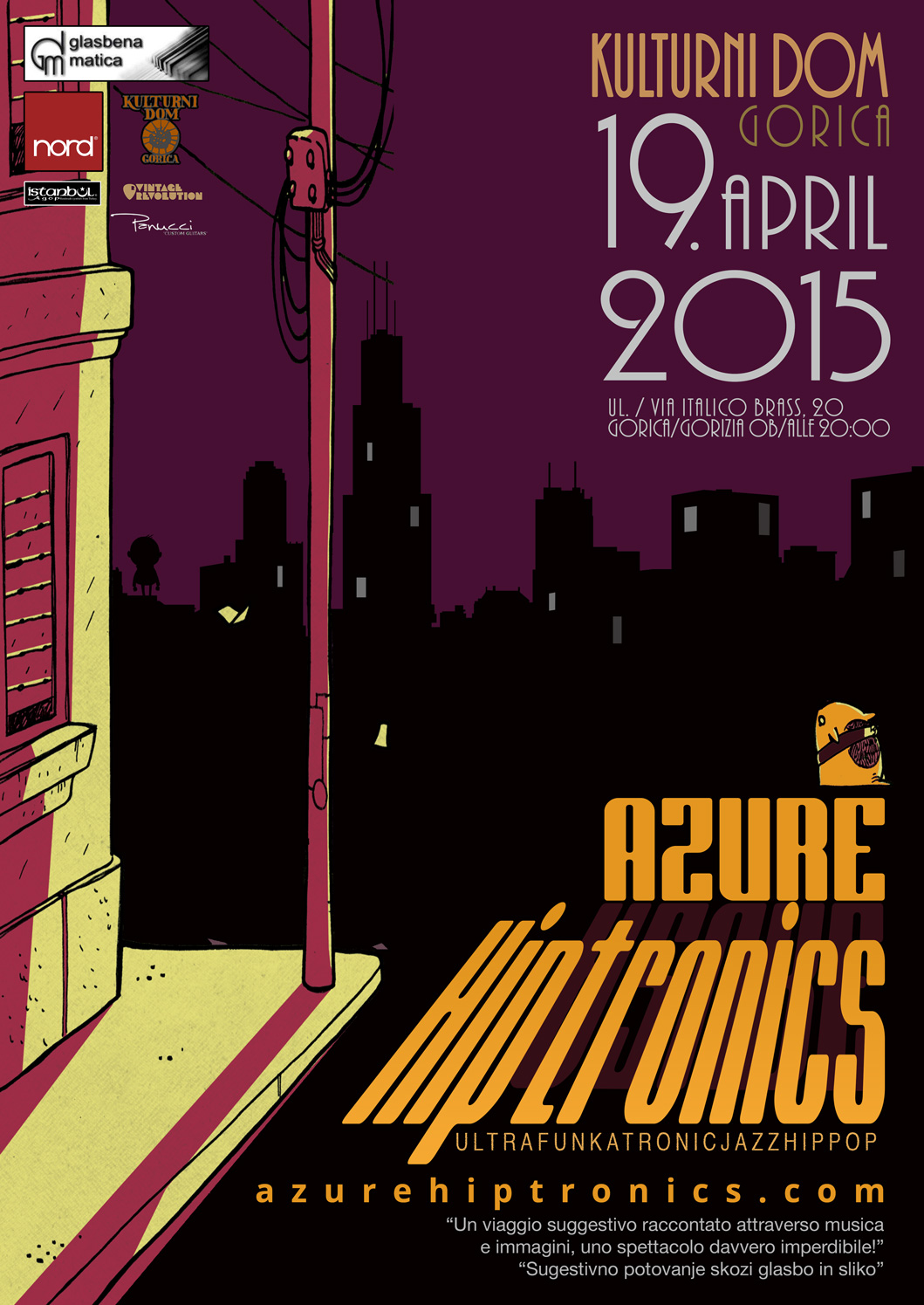 Azure Hiptronics in concert
