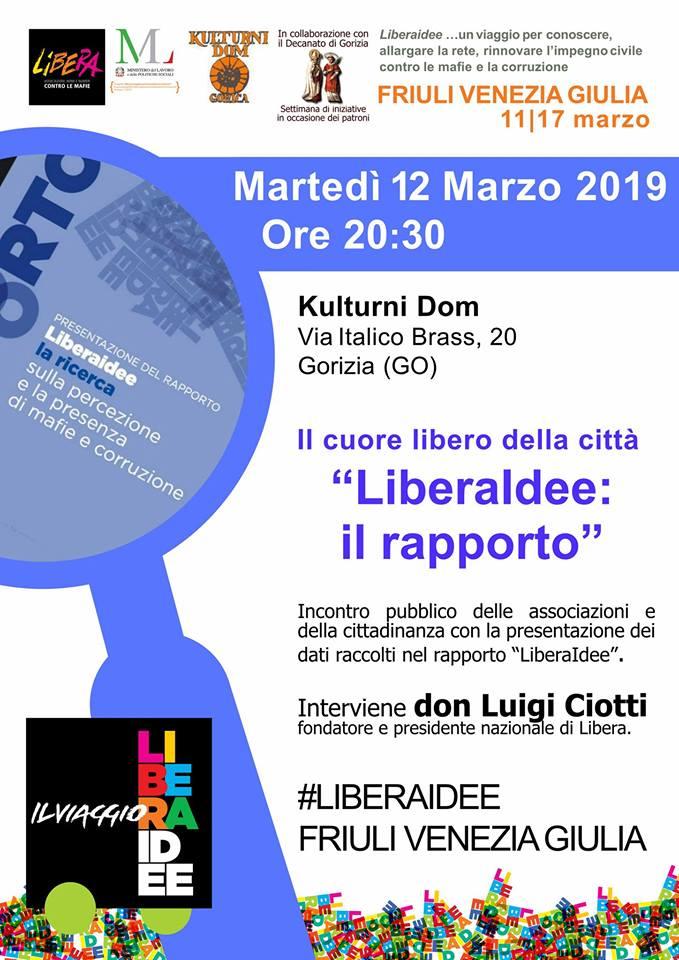 LiberaIdee: il rapporto. Incontro con don Luigi Ciotti