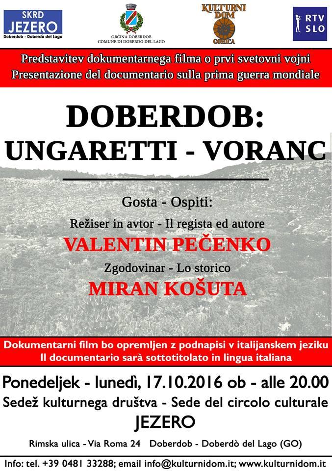 Doberdob: Ungaretti - Voranc